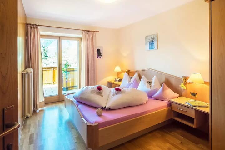 """Charming Apartment """"Mendel - Immenhof"""" with Mountain View, Wi-Fi, Balcony & Shared Pool; Parking Available"""
