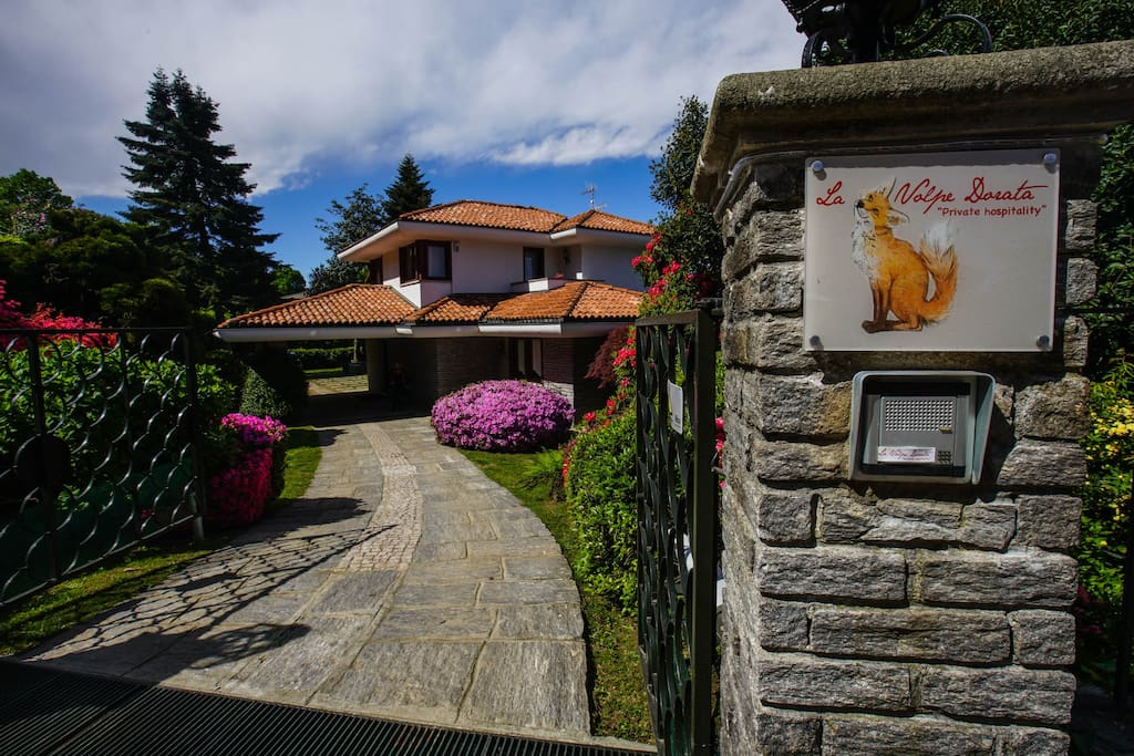 MAIN ENTRANCE to the Villa - private parking