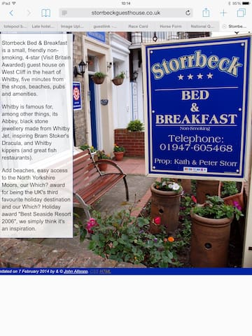 Storrbeck Guest House - Whitby - Bed & Breakfast