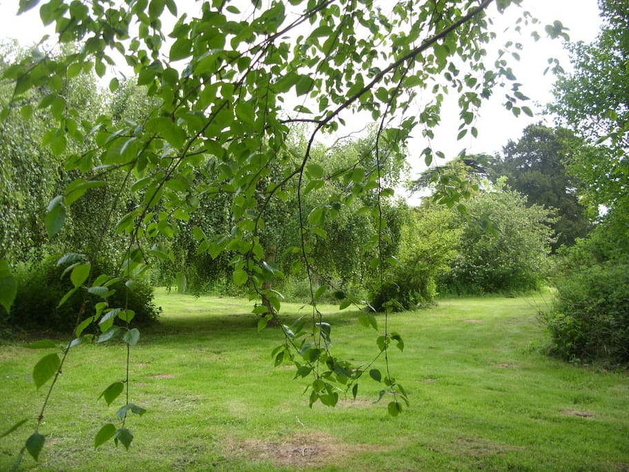 6 acres of private secluded gardens and orchard to site our vintage caravan 'Ivy-Mae'.