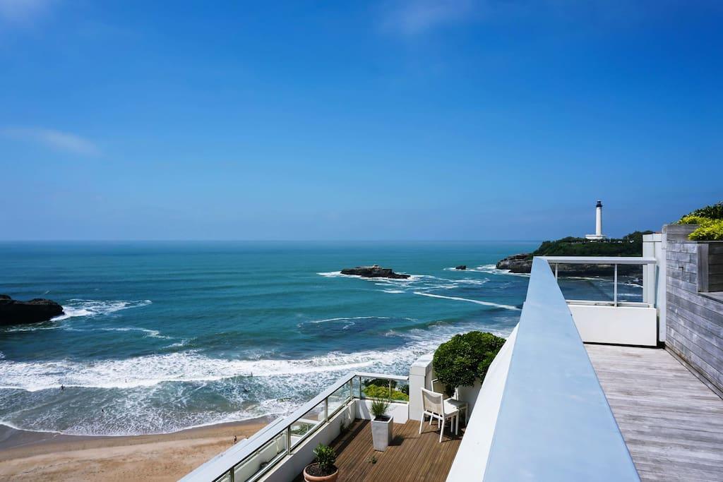 La vue depuis la terrasse // the view from the terrace