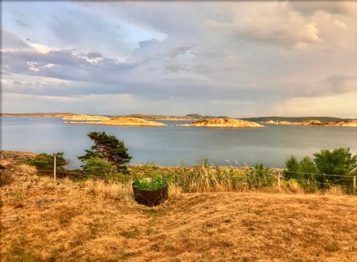 Hus nära havet med otrolig 180graders havsutsikt