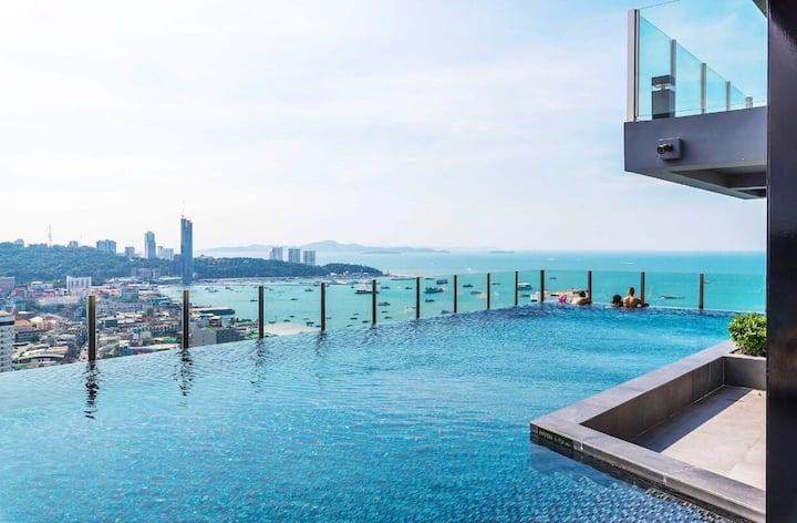 O特价豪华海景The base公寓黄金地理位置,无边泳池/健身房,如果两居没有,接受调成两套一居