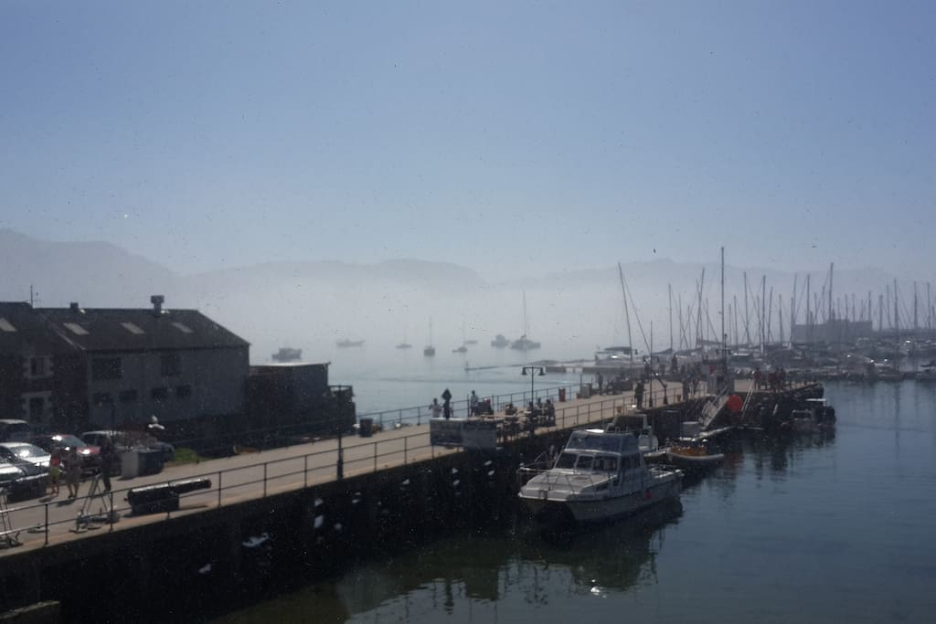 View from simon's Town quayside