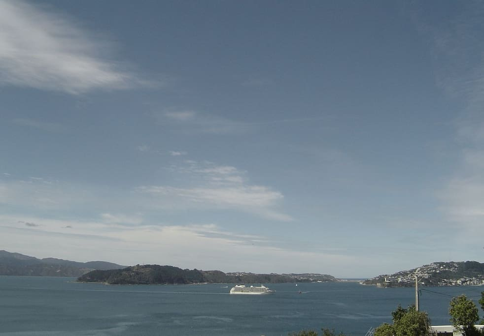 ...and enjoy the expansive views across the harbor to the ocean and horizon beyond...
