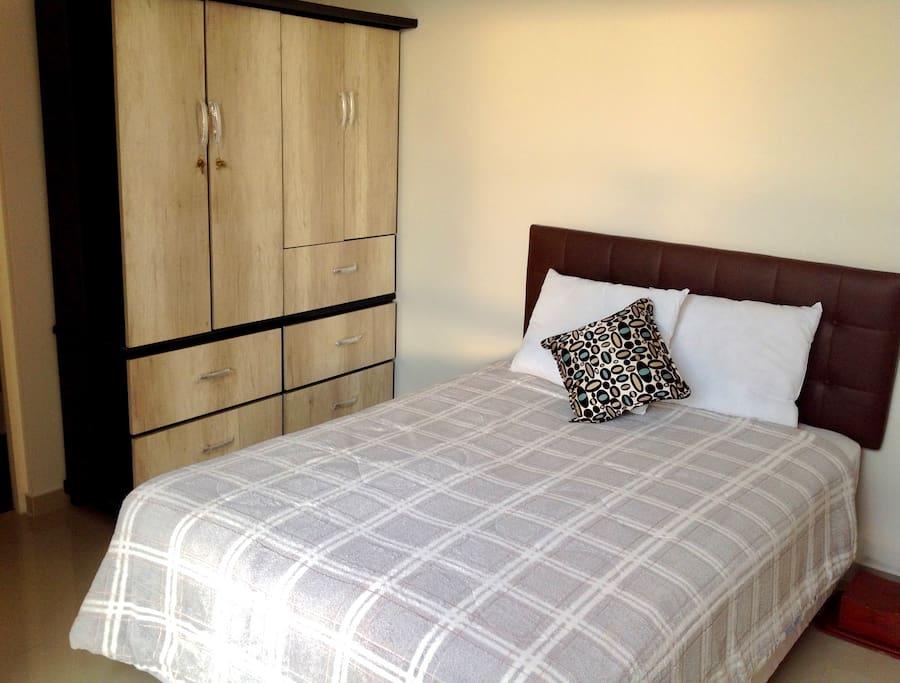 Double Private Bedroom (view w/ wardrobe)