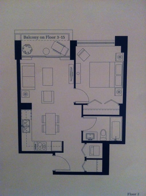 The plan/layout of the suite