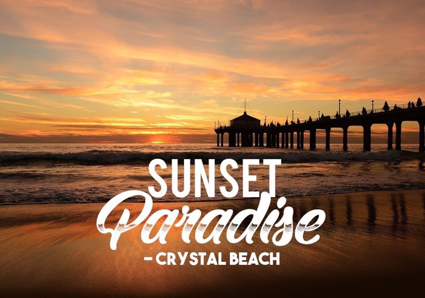 Sunset Paradise - Crystal Beach Getaway Suite.