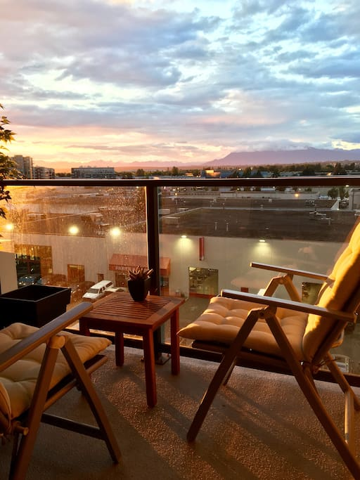 Beautiful- summer sunset view from the balcony and also same view from your bedroom.....