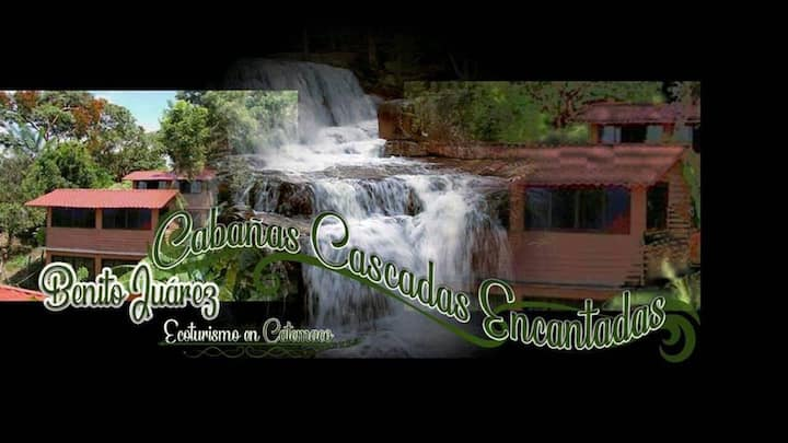 cabañas  cascadas encantadas benito juarez