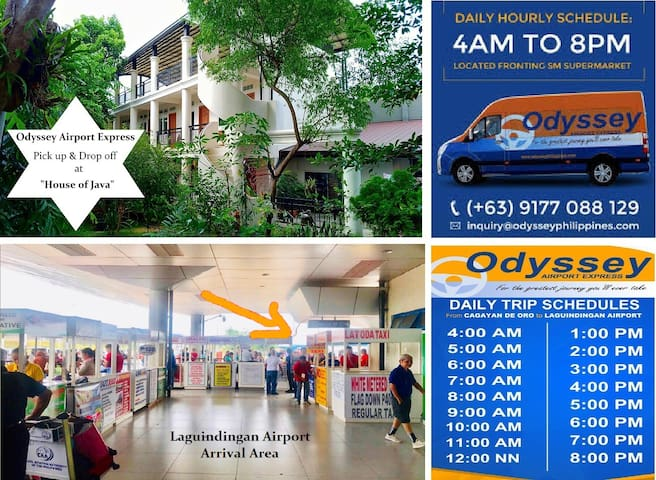 """Airport Transfer Service --- Pick-up/Drop off at """"House of Java"""" by Odyssey Airport Express"""
