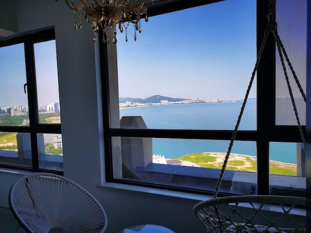 养马岛旁270°海景房 给您一个海湾的家