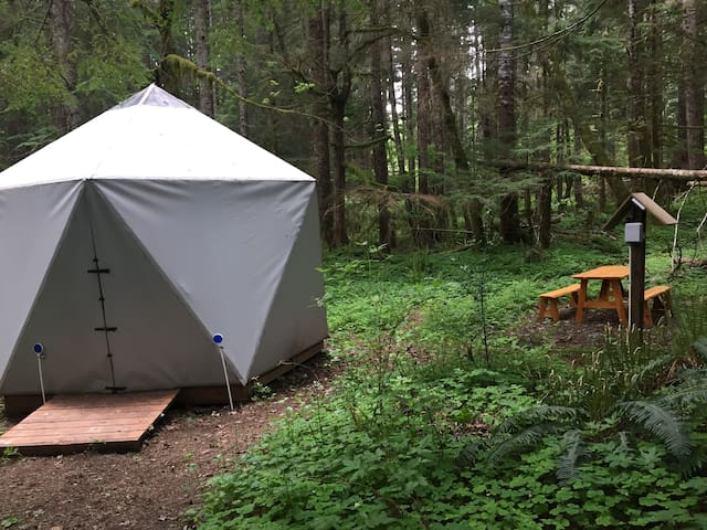 Yurt in the woods ( Breakfast Included )