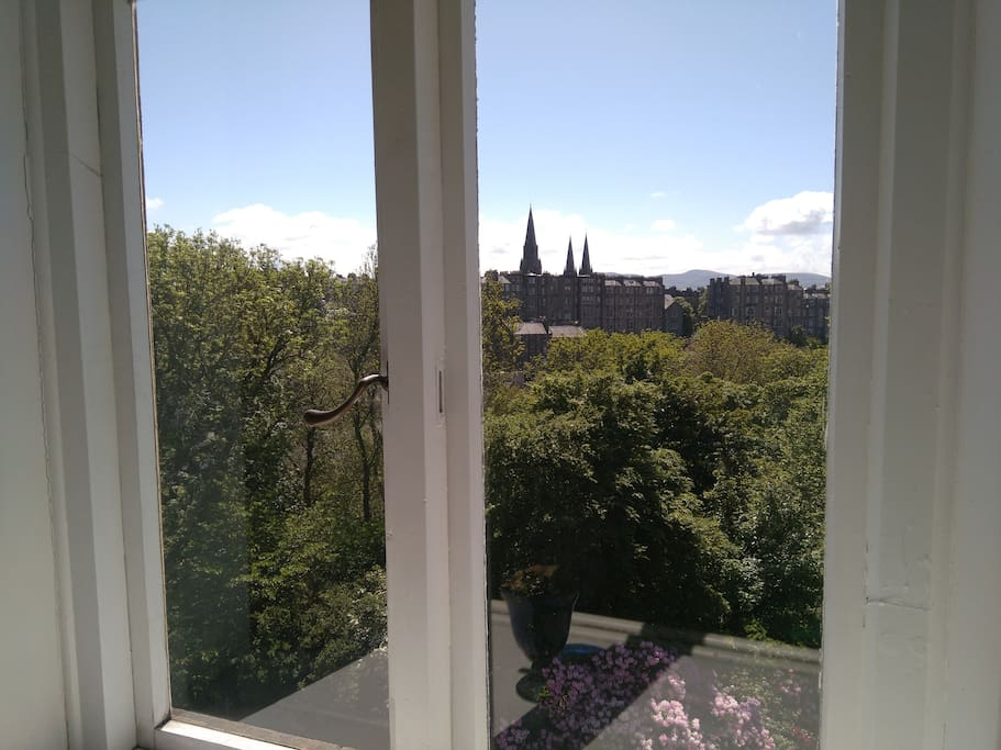 with lovely views overlooking the gardens and the Dean Village