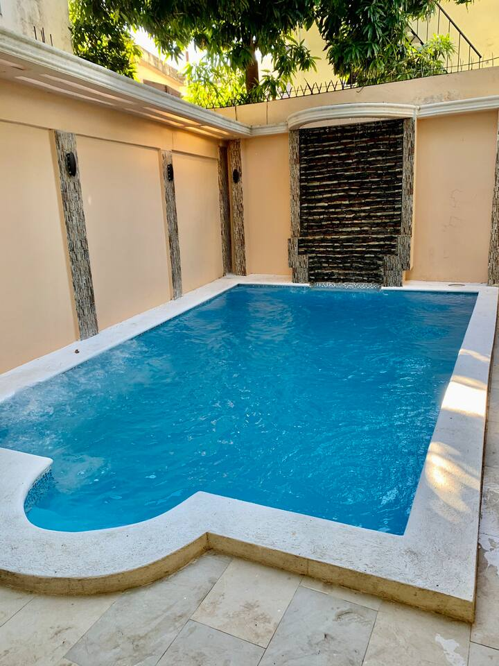 Spacious Private Pool house with secured Parking
