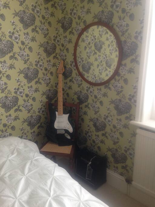 Decor and decoration is paramount. The guitar can be removed for extra space to place luggage etc if required.