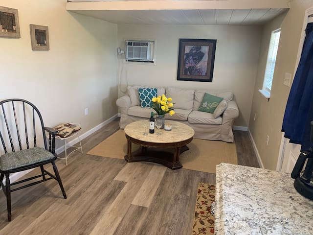 Living space with comfy couch !