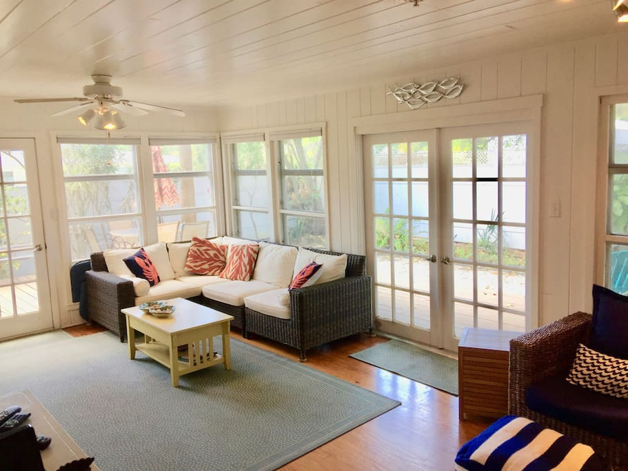 Living Area with Deck View