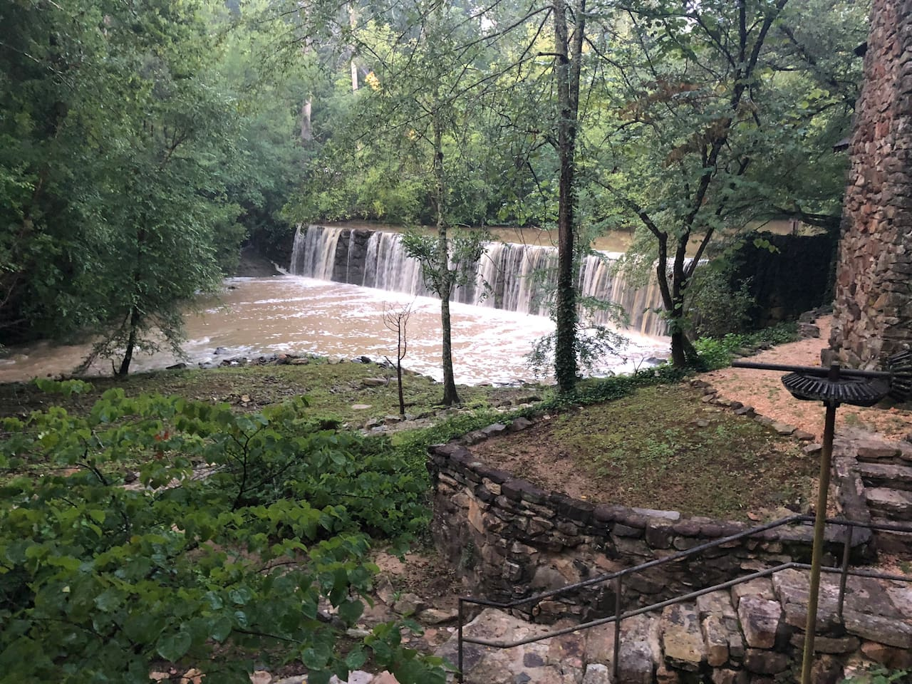 Boones Mill Dam and Waterfall