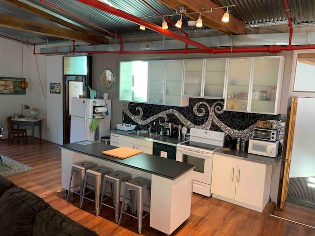 Dreamy loft in renovated textile mill