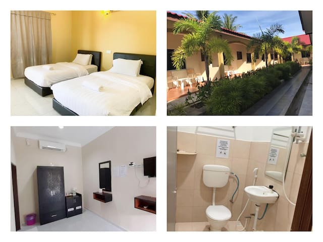 Cenang Beach | Twin Bedroom | Free Wifi