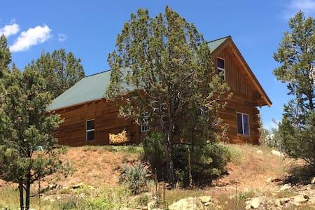 Custom-built Log Cabin on Ranch by Mesa Verde