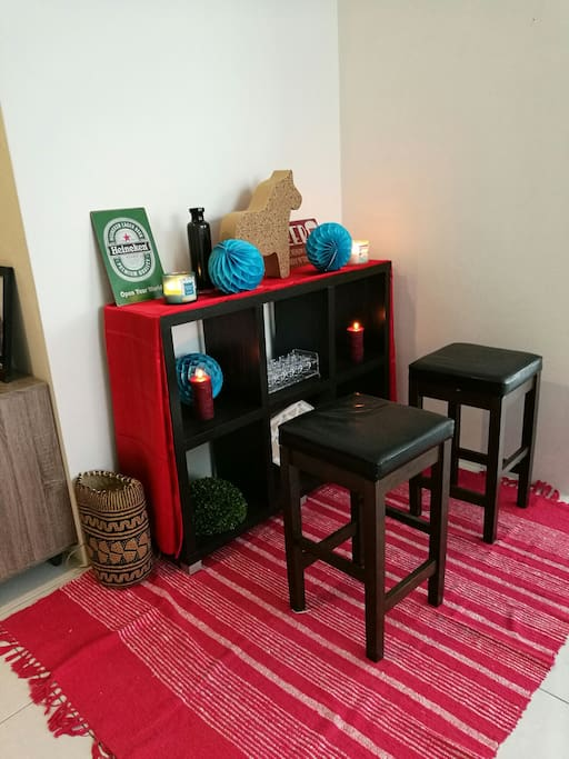 """I call this my little chill out """"bar"""" or deco space"""