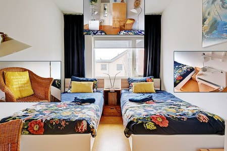 10,5m2 Spacious cozy room with 2 beds