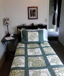 Private single unit with twin bed