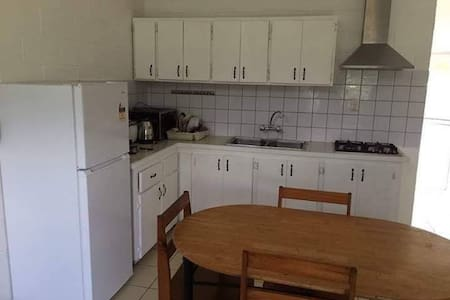 Cosy 2 bedroom unit in a rental compound.