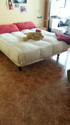 Bonita y confortable habitacion doble en el centro