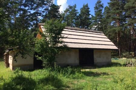 Siedlisko - stodoła w Biebrzańskim Parku Narodowym