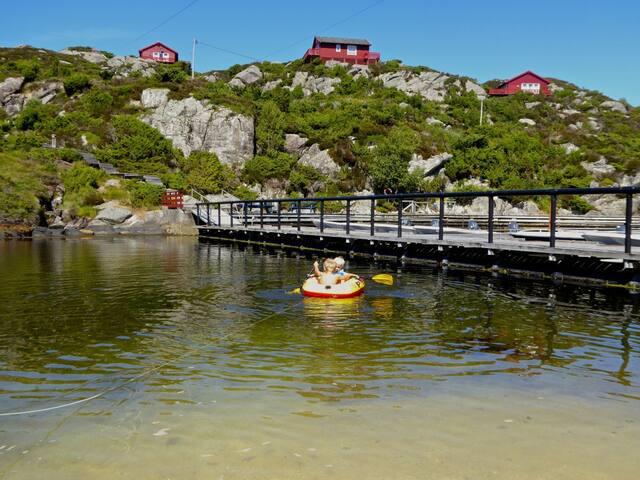 Comfortferienhütte Hagland Lille inkl Boot