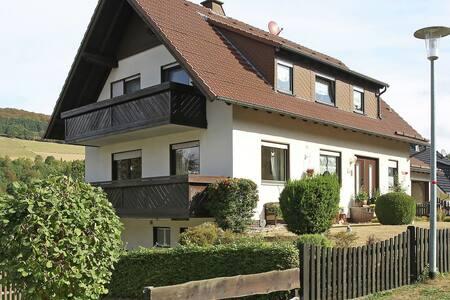 Bijzonder fraai gelegen appartement met terras en uitzicht op de Diemelsee