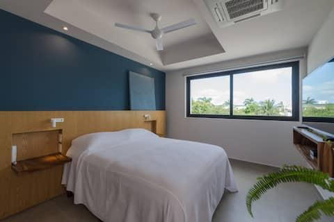 Habitación Sencilla en Excelente Zona de Cancún 1F