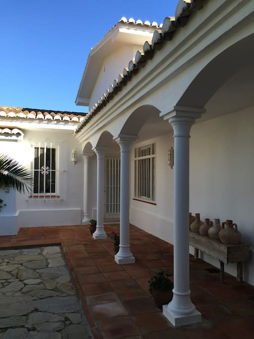 Spanish style front entrance.