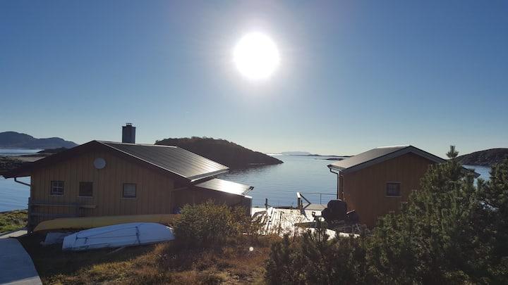 Egen øy på Sør-Helgeland med fantastisk utsikt.