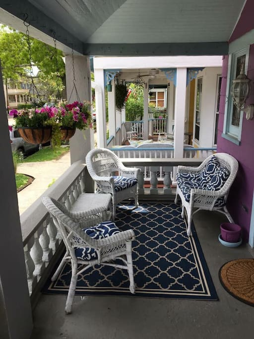 Front porch overlooking Main Ave