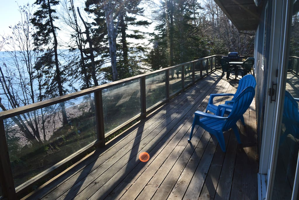 Relax on the spacious deck.