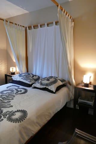 Chambre avec sdb dans jolie maison atypique - Chanteloup-les-Vignes - Casa