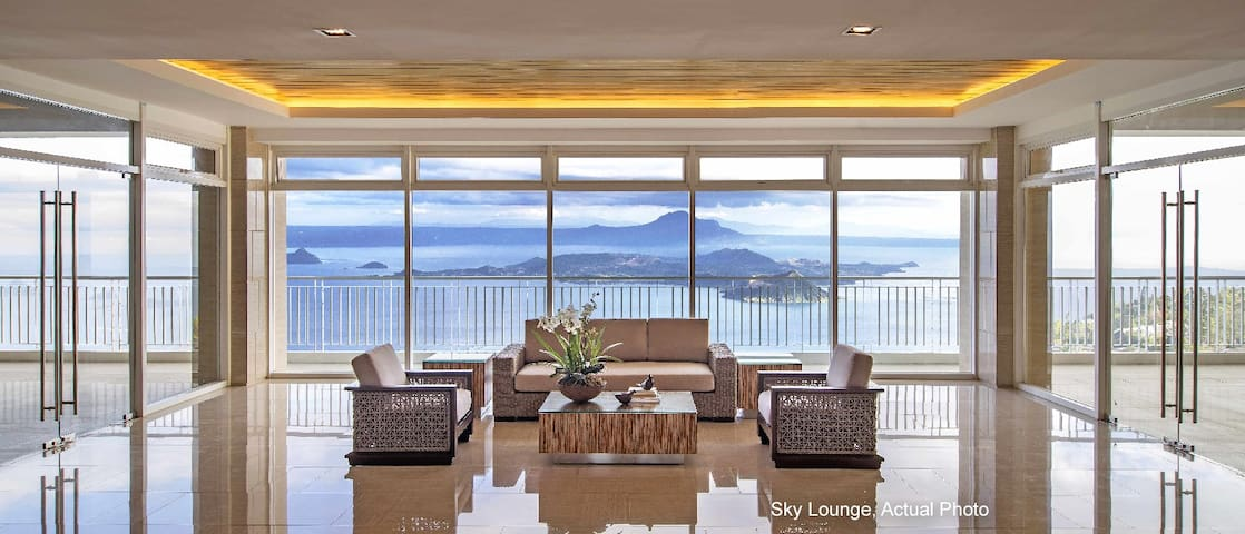 Wind Residences Sky Lounge -free for registered guests at ground floor lobby.