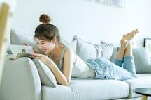 沙发是最舒服的位置啦