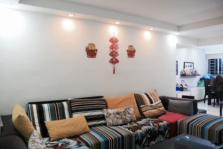 direct train to downtown, air conditioning big bed - Singapur - Apartament