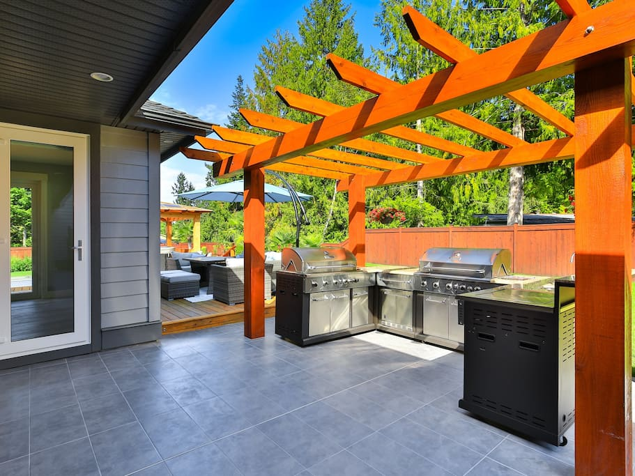 Barbecue To Perfection On Our Outdoor Kitchen