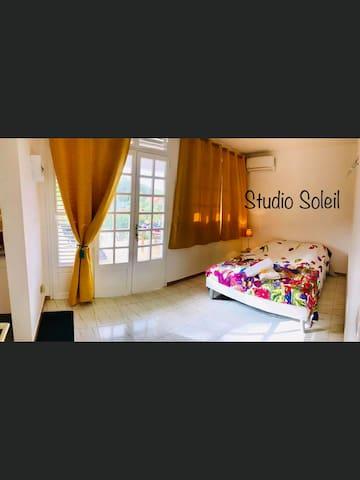 Studio Soleil, tout confort, avec jardin tropical