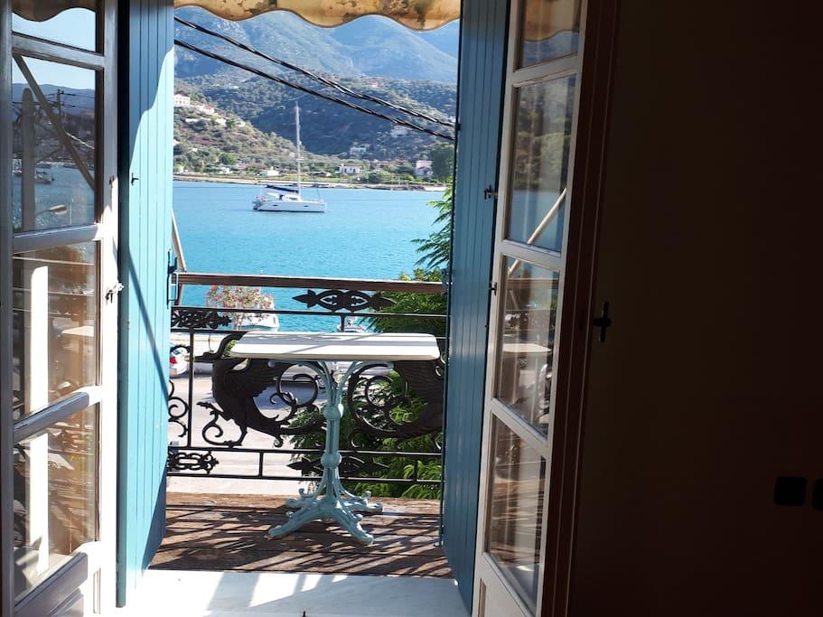Large bedroom balcony