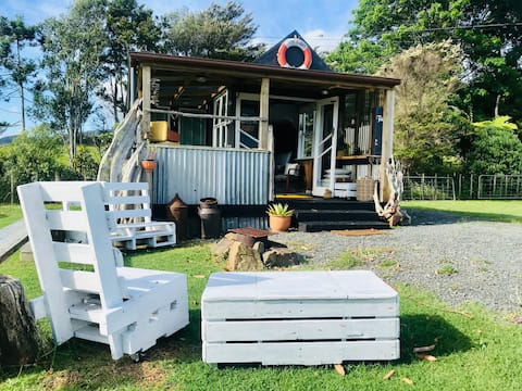 Our Wee Cabin , on the farm in Coromandel Town