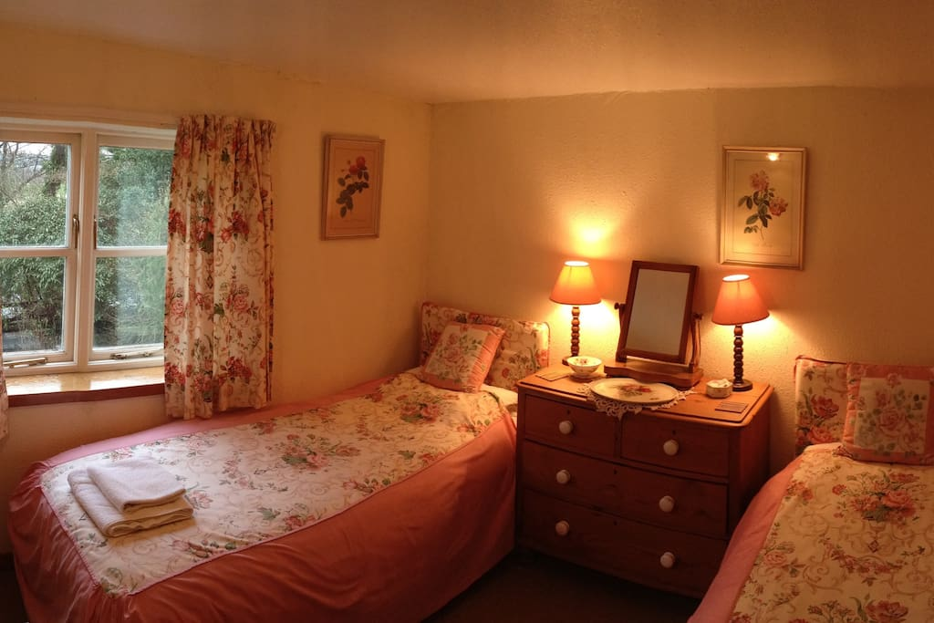 Twin room, overlooking the river