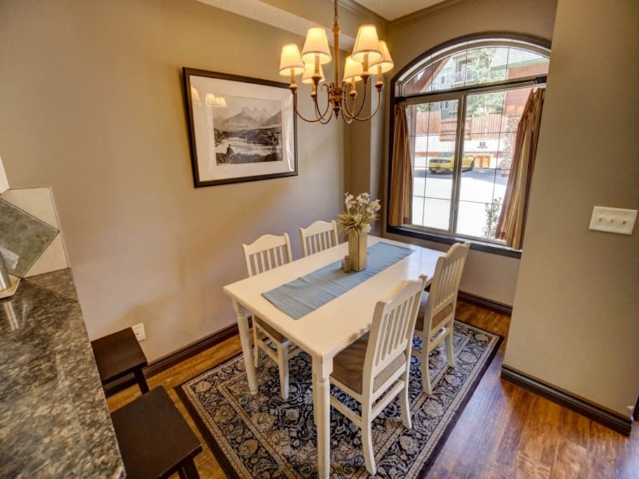 Cozy up for Your Home Cooked Meals During your Stay