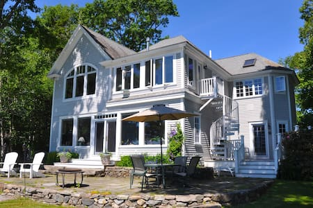 Dramatic Ocean-front home Casco Bay - Фрипорт